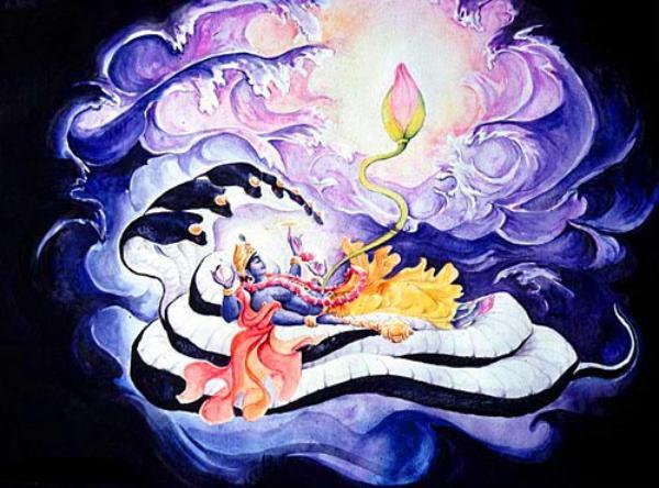 Vishnu creates Lotus