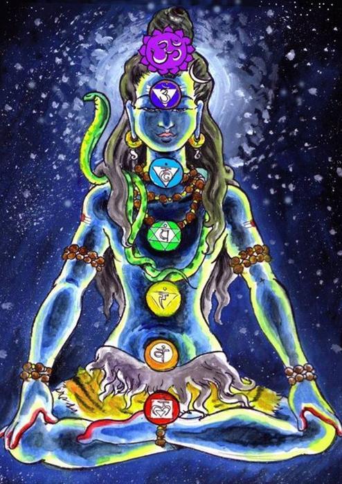 six chakras body