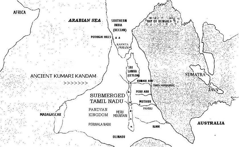 Lemuria Continent Kumari Kandam, Ancient Tamil Kingdom, Facts