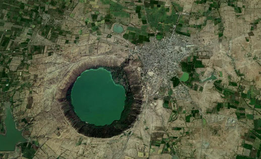 Lonar Crater Lake Sky View