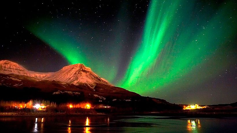 Northern Lights or Aurora Borealis in Ramayana