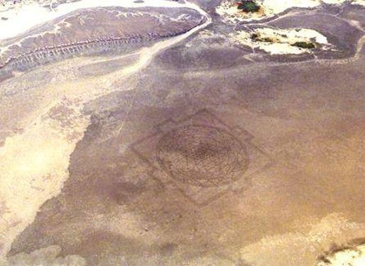 Sri Yantra (Chakra) in Alvord Desert Oregon