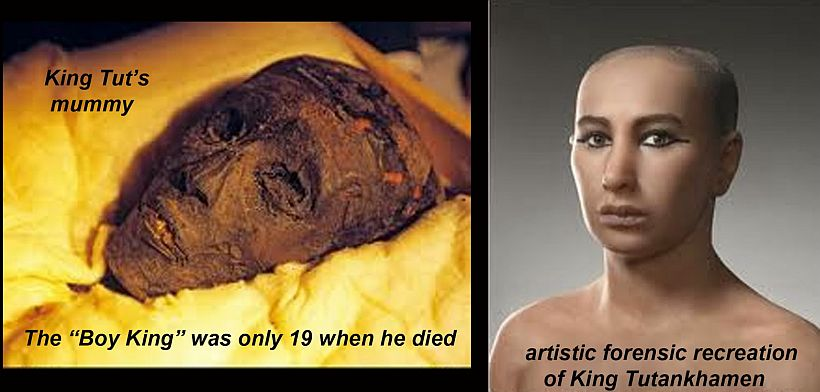 king tutankhamun mummy face