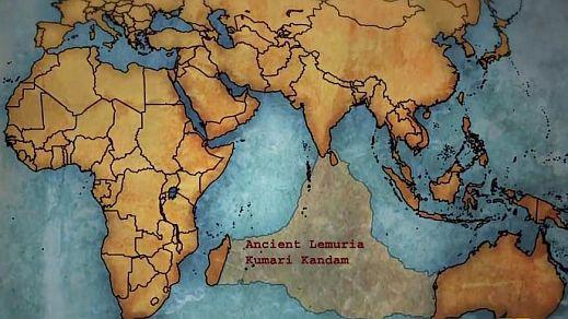 kumari kandam lemuria continent map