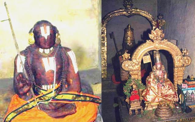 ramanujacharya original body preserved in srirangam