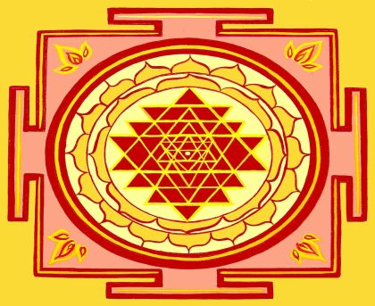 sri yantra diagram (2D)