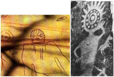 Tassili Astronauts Painting 8000 BC