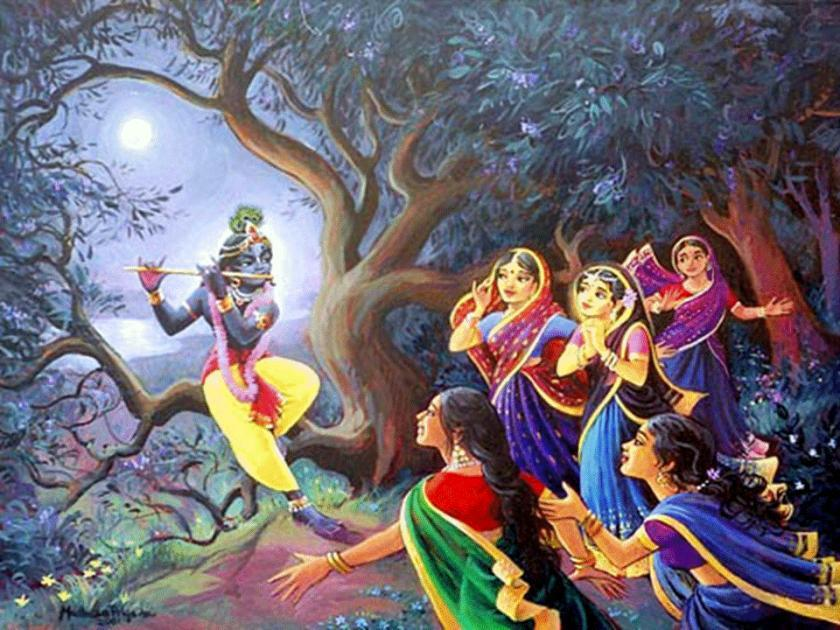 Gopis with Krishna