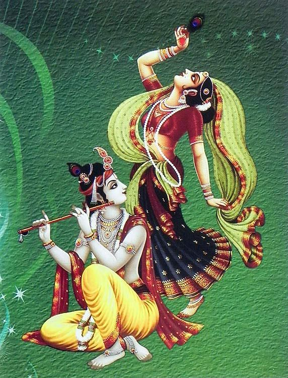 Vrishabhanuja with Krishna
