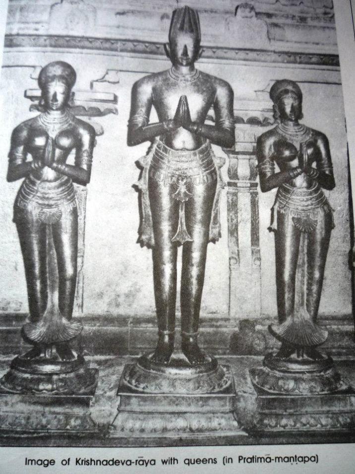 chinna devi krishnadevaraya tirumala devi statues in tirumala temple