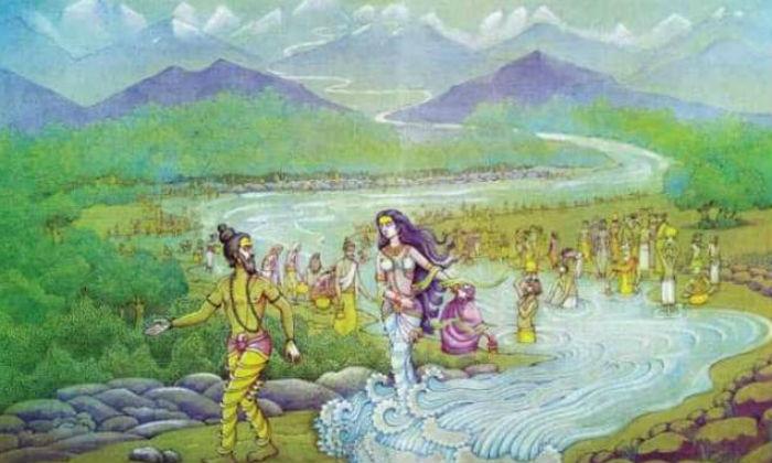 Kapila meets Bhageeratha