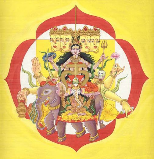 Ganesha in Mooladhara Chakra with Dieties