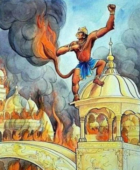 Hanuman burned Lanka