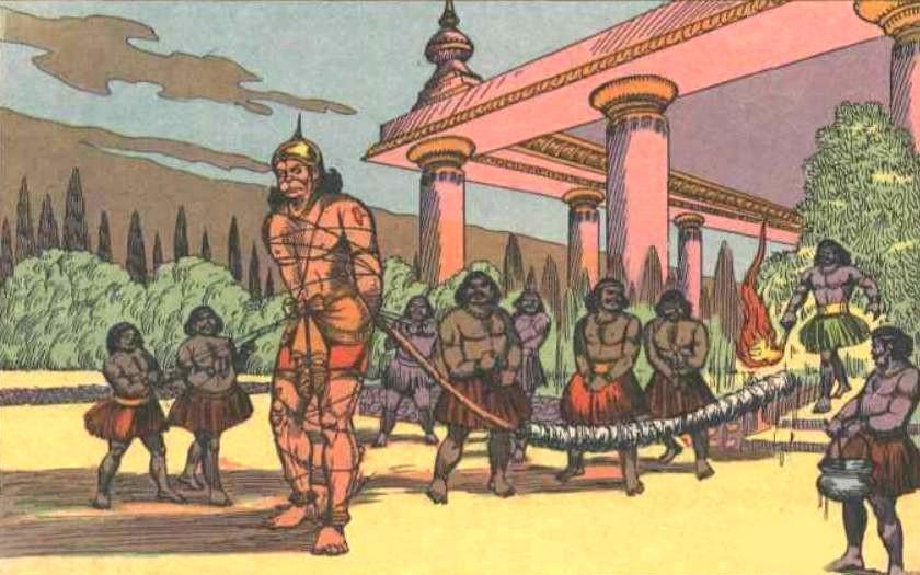 Hanuman burn Lanka