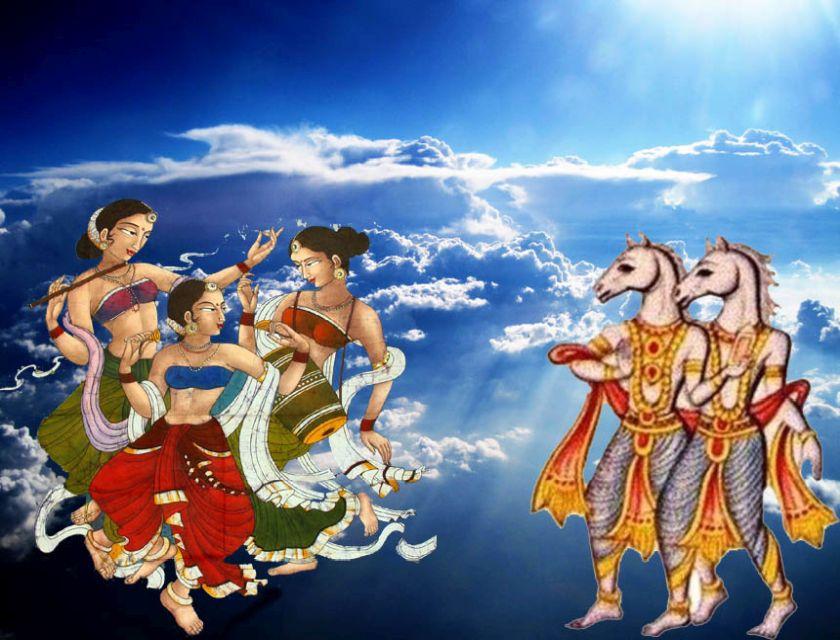 Apsara Haha Huhu Gangharva Musicians in Ramayana
