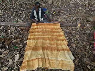Africa made bark clothes