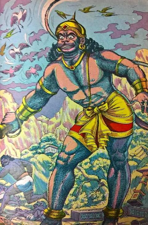 Hanuman kills Patala Lanka army