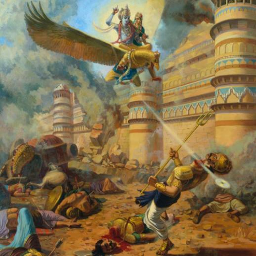 narakasura killed by vishnu
