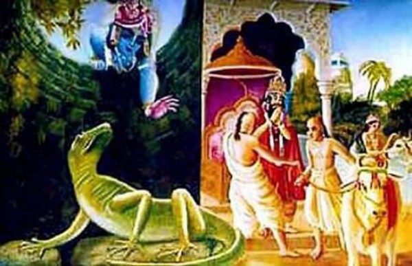 nriga dinosaur with krishna