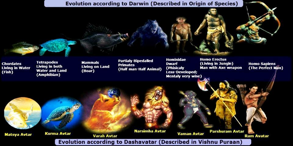 vishnu dasavatar darwin evolution