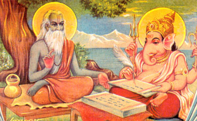 vyasa narrating mahabharata to ganesha