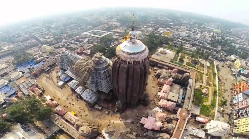 Puri Jagannath Mandir Aerial View