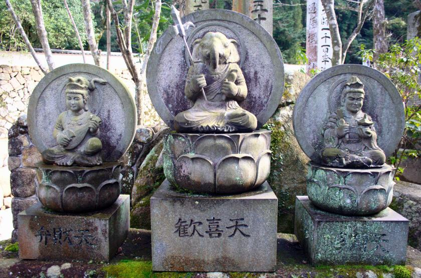 Benzaiten Kangiten Bishamonten at Daisho-in Japan