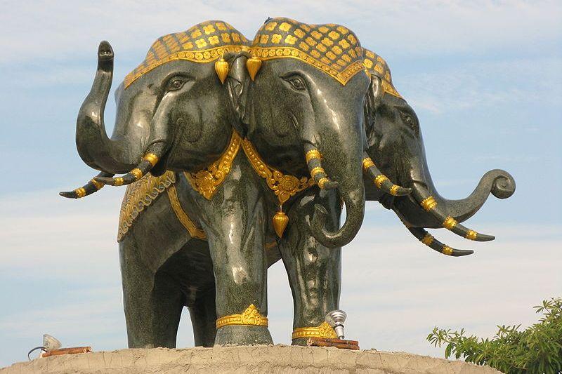 Erawan statue in Thailand
