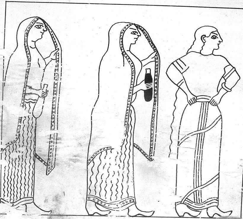 Kausalya Kaikeyi Sumitra painting from Ramayana