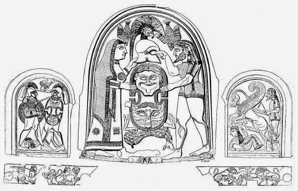 Ramayana Bronze panel Etruscan