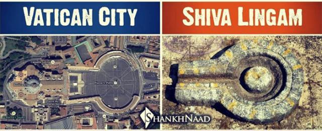 Vatican City top view Shiva Lingam