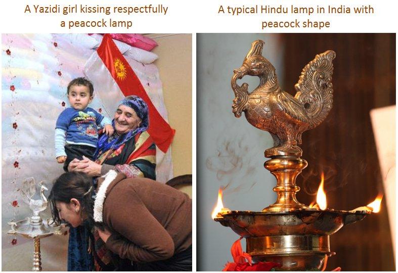 Yazidi - Peocock lamp - Hindu