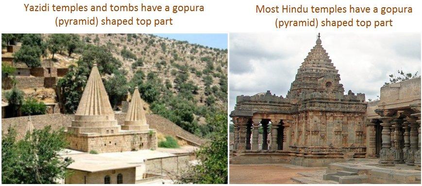 Yazidi temple shape Hindu