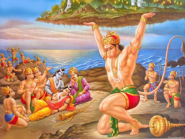 hanuman lifting sanjeevani mountain