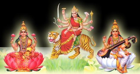 lakshmi parvati saraswati