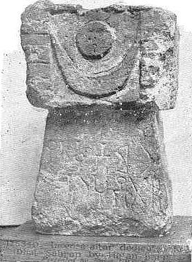 pre islamic sun moon symbol arabia