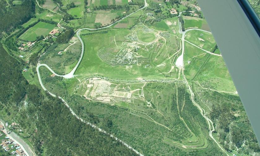 saksaywaman aerial view