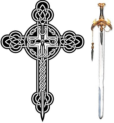 solar celtic cross sword