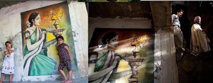 yazidi hidden temple hindu paintings