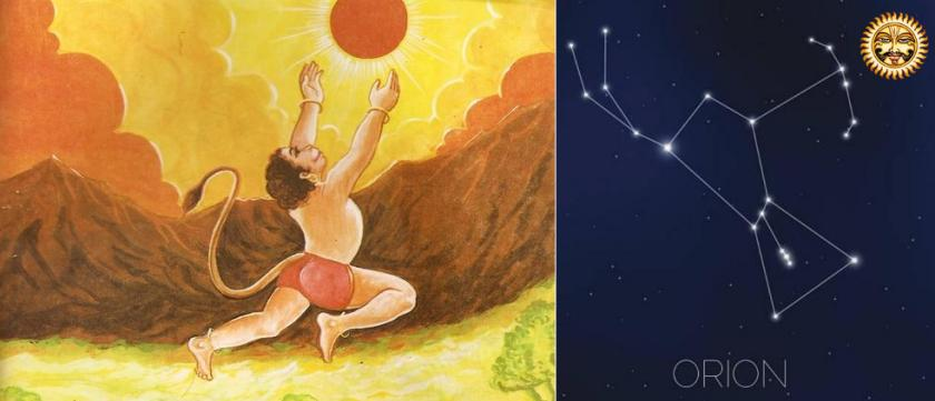 Hanuman catching Sun - Orion, Vrishakapi